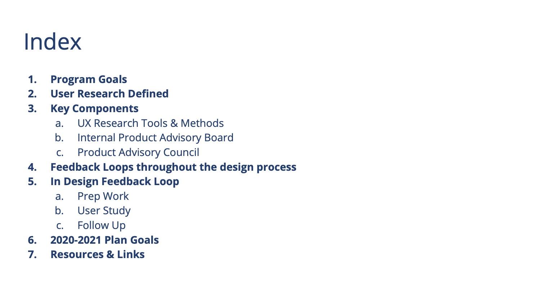 UXR Program 2020 Slide 2